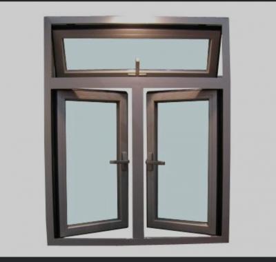 Aluminum Openable Window With Top Hang